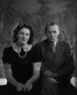 Margaret Anne Hutchinson (née Robertson Rodger); John Colvin Hutchinson, by Bassano Ltd - NPG x178912