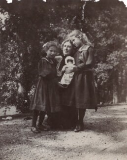 Mary Costelloe with her daughters Karin and Ray, by Unknown photographer - NPG Ax160697