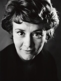 Joan Plowright, by Sandra Lousada - NPG x135448