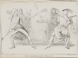 The Horatii & the Curiatii, by John ('HB') Doyle, printed by  Alfred Ducôte, published by  Thomas McLean, published 22 April 1834 - NPG D41249 - © National Portrait Gallery, London