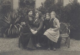 Karin, Mary, Ray and 'Pug', by Unknown photographer - NPG Ax160715