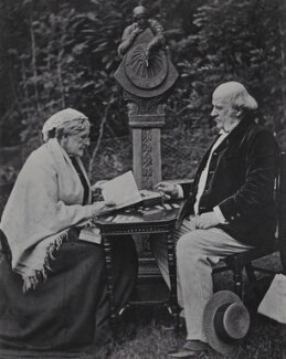 Hannah Smith (née Whitall) (Mrs Pearsall Smith); Robert Pearsall Smith, by Unknown photographer - NPG Ax160718