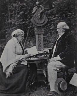 Hannah Tatum Smith (née Whitall); Robert Pearsall Smith, by Unknown photographer - NPG Ax160718