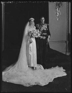 The Wedding of Princess Marina, Duchess of Kent and Prince George, Duke of Kent, by Elliott & Fry - NPG x104248