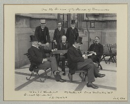 'On the Terrace of the House of Commons', by Benjamin Stone - NPG x135482