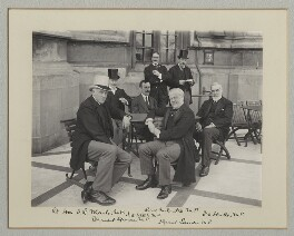 'On the Terrace of the House of Commons', by Benjamin Stone - NPG x135483