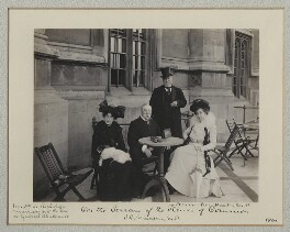'On the Terrace of the House of Commons', by Benjamin Stone - NPG x135487