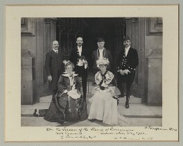 'On the Terrace of the House of Commons', by Benjamin Stone - NPG x135493