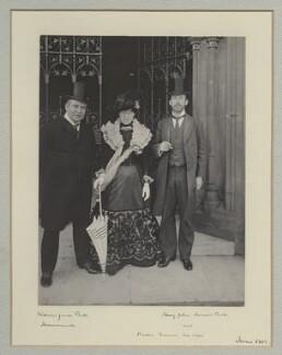 Sir William James Bull, 1st Bt; Bertha Frances Bull (née Nash); Henry John Howard Bull, by Benjamin Stone - NPG x135495