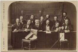 The Jury at the Tichborne Criminal Trial, by Watkins & Haigh - NPG x135499