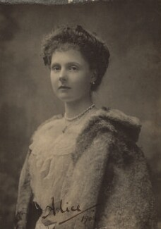 Princess Alice, Countess of Athlone, possibly by Alice Hughes - NPG x135502