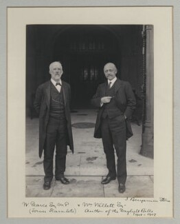 Sir Robert Pearce; William Willett, by Benjamin Stone - NPG x135511