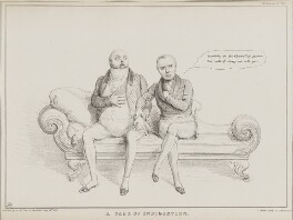 A Case of Indigestion (William Frederick, 2nd Duke of Gloucester; Sir Henry Halford, 1st Bt), by John ('HB') Doyle, printed by  Alfred Ducôte, published by  Thomas McLean - NPG D41256