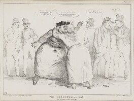 The Reconciliation.  An Affecting Scene., by John ('HB') Doyle, printed by  Alfred Ducôte, published by  Thomas McLean, published 22 July 1834 - NPG D41266 - © National Portrait Gallery, London