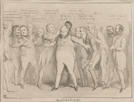 Blind-Man's-Buff, by John ('HB') Doyle, printed by  Alfred Ducôte, published by  Thomas McLean - NPG D41267