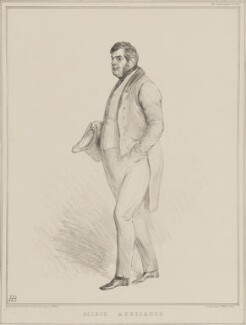 Edward Ellice ('Scipio Africanus'), by John ('HB') Doyle, printed by  Alfred Ducôte, published by  Thomas McLean, published 4 August 1834 - NPG D41270 - © National Portrait Gallery, London