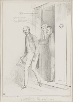Political Manner of Bowing a Friend Out, by John ('HB') Doyle, printed by  Alfred Ducôte, published by  Thomas McLean - NPG D41271