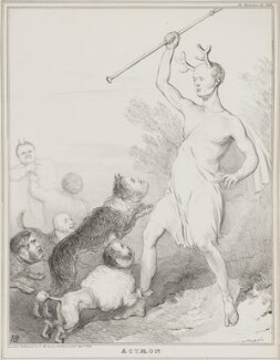 Actaeon, by John ('HB') Doyle, published by  Thomas McLean - NPG D41274