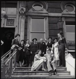 The Wedding of Annabel Ruth Pagel (née Tuby) and Bernard Ephraim Julius Pagel (group including Mitha Tuby), by Ida Kar - NPG x135521