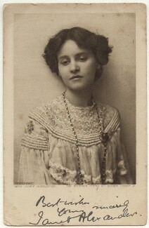 Janet Alexander, by The Biograph Studio, mid 1900s - NPG x160476 - © National Portrait Gallery, London