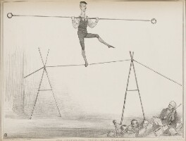 Henry Brougham, 1st Baron Brougham and Vaux ('The Celebrated Vaux Hall Performer on the Tight Rope'), by John ('HB') Doyle, printed by  Ducôte & Stephens, published by  Thomas McLean, published 16 September 1834 - NPG D41276 - © National Portrait Gallery, London