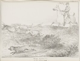 Vaux Hunting or The Newest Version of Tally Ho!, by John ('HB') Doyle, printed by  Ducôte & Stephens, published by  Thomas McLean - NPG D41281