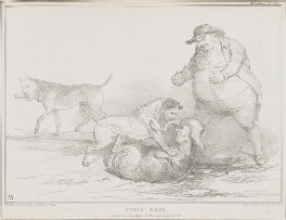 Trois Dogs, by John ('HB') Doyle, printed by  Ducôte & Stephens, published by  Thomas McLean - NPG D41284