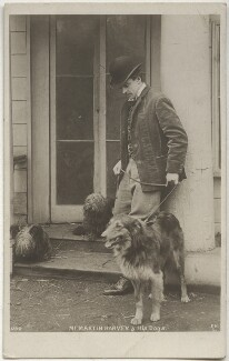 Sir John Martin-Harvey and his dog, by Unknown photographer - NPG x160508