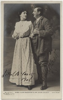 Lillah McCarthy; Louis Calvert, by Alfred Ellis & Walery, published by  J. Beagles & Co - NPG x160526