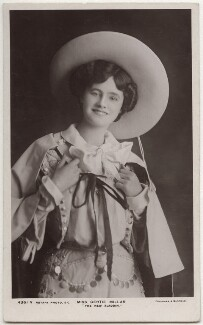 Gertie Millar as Lally in 'The New Aladdin', by Foulsham & Banfield, published by  Rotary Photographic Co Ltd, 1906 - NPG x160532 - © National Portrait Gallery, London