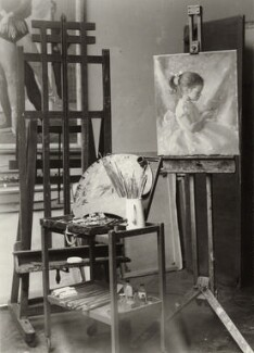 Studio of artist Henry Carr, by Paul Laib - NPG x135529