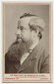George Frederick Samuel Robinson, 1st Marquess of Ripon and 3rd Earl de Grey, by London Stereoscopic & Photographic Company, 1873 - NPG x135533 - © National Portrait Gallery, London