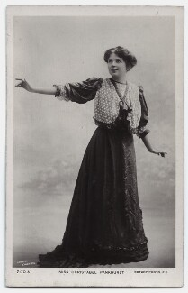 Dame Christabel Pankhurst, by Lallie Charles (née Charlotte Elizabeth Martin), published by  Rotary Photographic Co Ltd, 1908 - NPG x135535 - © National Portrait Gallery, London