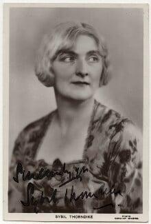 Sybil Thorndike, by Dorothy Wilding - NPG x160597
