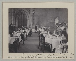 'Luncheon in Westminster Hall to the Premiers of the Self Governing Colonies', by Benjamin Stone - NPG x135541