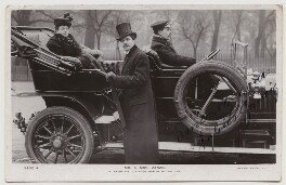 Agnes Zancig (née Claussen Jörgensen) and Julius Zancig in their six cylinder Napier motor car, by Campbell-Gray, published by  Rotary Photographic Co Ltd - NPG x160612