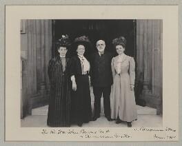 John Elliott Burns with American visitors to the House of Commons, by Sir (John) Benjamin Stone, June 1908 - NPG x135551 - © National Portrait Gallery, London
