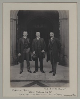 Roland Parker Stone; Charles Holme; Robert Henry Holden, by Benjamin Stone - NPG x135571