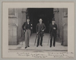 Sir Lionel Earle; William Waldegrave Palmer, 2nd Earl of Selborne; Leander Starr Jameson, by Benjamin Stone - NPG x135572