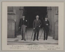 Sir Lionel Earle; William Waldegrave Palmer, 2nd Earl of Selborne; Sir Leander Starr Jameson, 1st Bt, by Benjamin Stone - NPG x135573