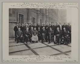 'Luncheon Party at the House of Commons', by Roland Parker Stone, for  Sir (John) Benjamin Stone, 29 June 1909 - NPG x135574 - © National Portrait Gallery, London