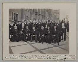 'Russian Statesmen at the Houses of Parliament', by Nicholas Alexeievitch Homiakoff, for  Benjamin Stone - NPG x135579
