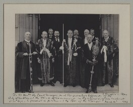 'The Rt. Honble. the Lord Mayor and Corporation Officials of the City of Dublin at the House of Commons', by Benjamin Stone - NPG x135587