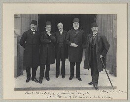 Mehmed Talat Pasha and Philip James Stanhope, Baron Weardale with two other Turkish delegates, by Benjamin Stone - NPG x135595