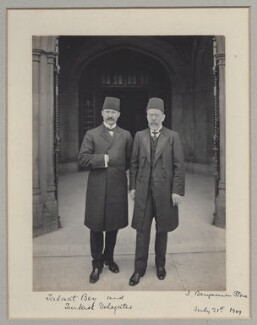 Mehmed Talat Pasha with a Turkish delegate, by Benjamin Stone - NPG x135596