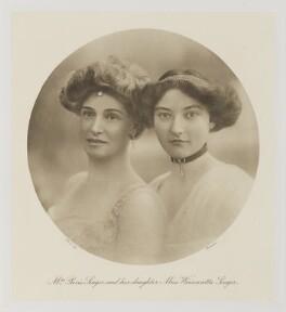 Cecilia Singer (née Graham); (Etheleen) Winnaretta (née Singer), Lady Leeds, by Bassano Ltd - NPG Ax161383