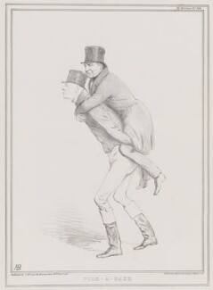 Pick-a-Back (George Byng; Joseph Hume), by John ('HB') Doyle, printed by  Ducôte & Stephens, published by  Thomas McLean - NPG D41302