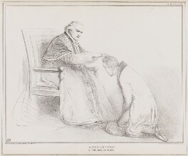 Absolution (Pope Gregory XVI (Bartolomeo Alberto Cappellari); Sir Robert Peel, 2nd Bt), by John ('HB') Doyle, printed by  Ducôte & Stephens, published by  Thomas McLean - NPG D41303