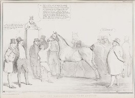 Cast Off Machiners Selling by Auction, by John ('HB') Doyle, printed by  Ducôte & Stephens, published by  Thomas McLean - NPG D41306