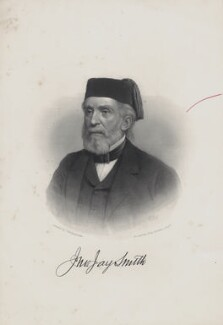 John Jay Smith, by John Sartain, after  James Reid Lambdin - NPG Ax160475